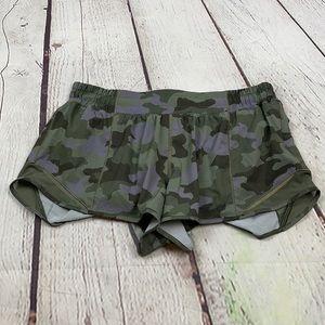 UEC camo Lululemon bitty hot  shorts 10 2in inseam